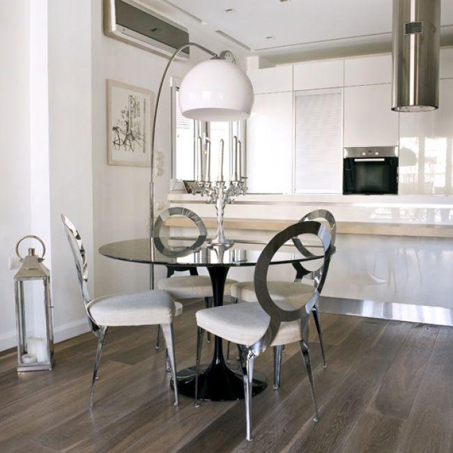 White High Gloss Worktop Solid Oak