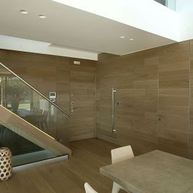 Floor-wall-door-stair investments with semi-solid QS flooring