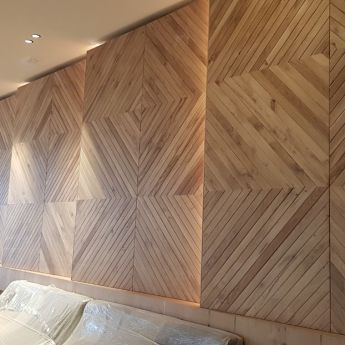Ceiling and wall cladding by special partner Michalis Spinakis